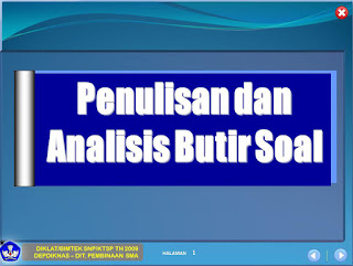 Panduan Penulisan Soal dan Analisis Butir Soal KTSP