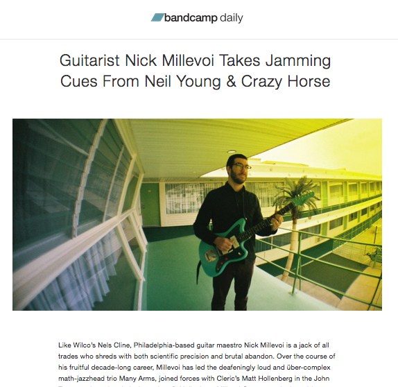 Nick Millevoi: Bandcamp Daily Feature