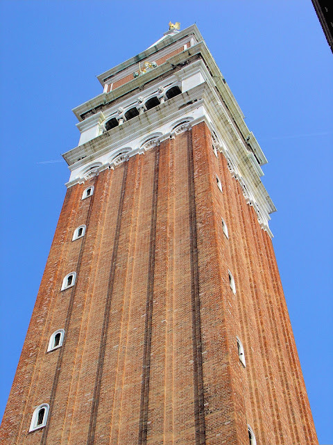 Be sure to ascend the campanile in Saint Mark's Square for commanding views of the city and lagoon.