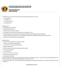 Lowongan Dosen Universitas Muria Kudus (UMK) – Juni 2016