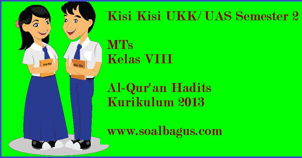 Kisi Kisi Ukk Al Qur An Hadits Kelas 8 Mts Kurikulum 2013 Oemar Bakri