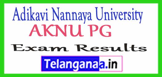 Adikavi Nannaya University AKNU PG  Exam Results