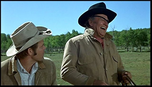 Rooster Cogburn and La Boeuf True Grit 1969 movieloversreviews.filminspector.com