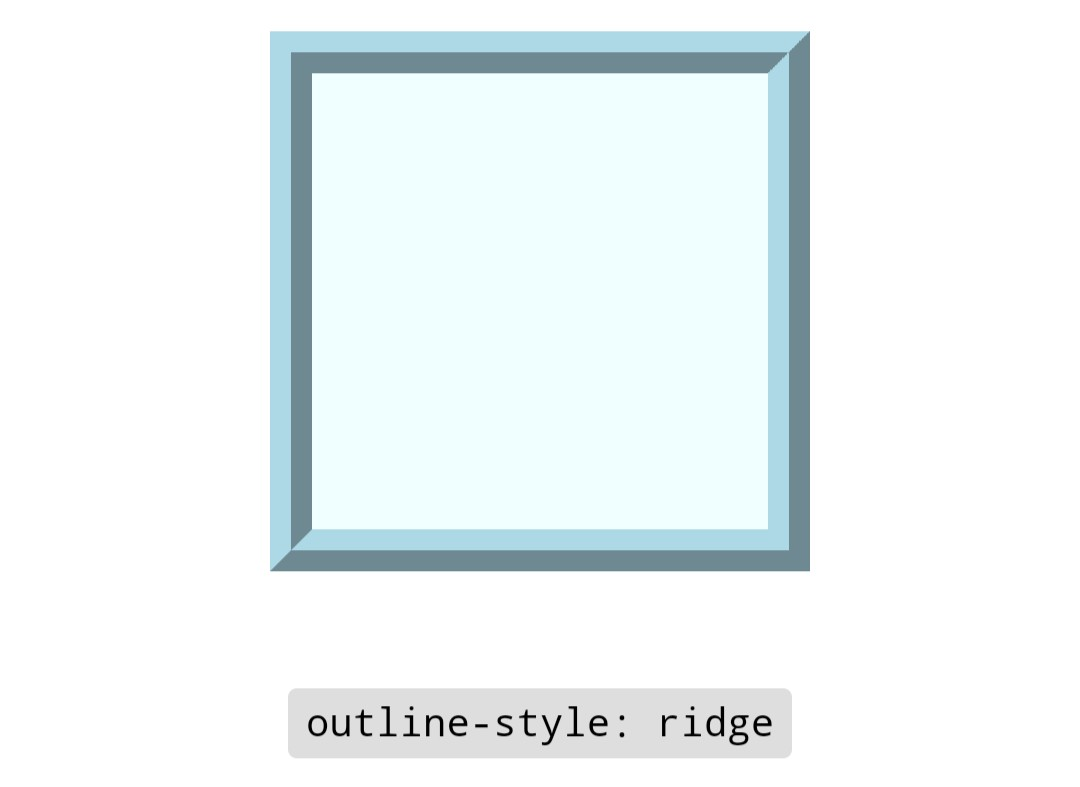 outline ridge