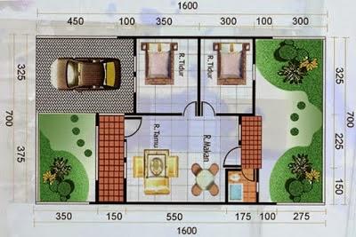 42 Gambar dan Denah Rumah Minimalis Type 60