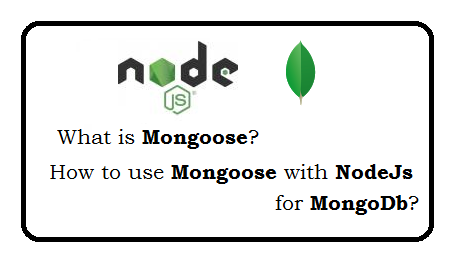 What is mongoose? How to use mongoose with nodejs for mongodb?