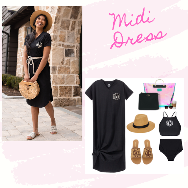 monogram midi dress as a cover up
