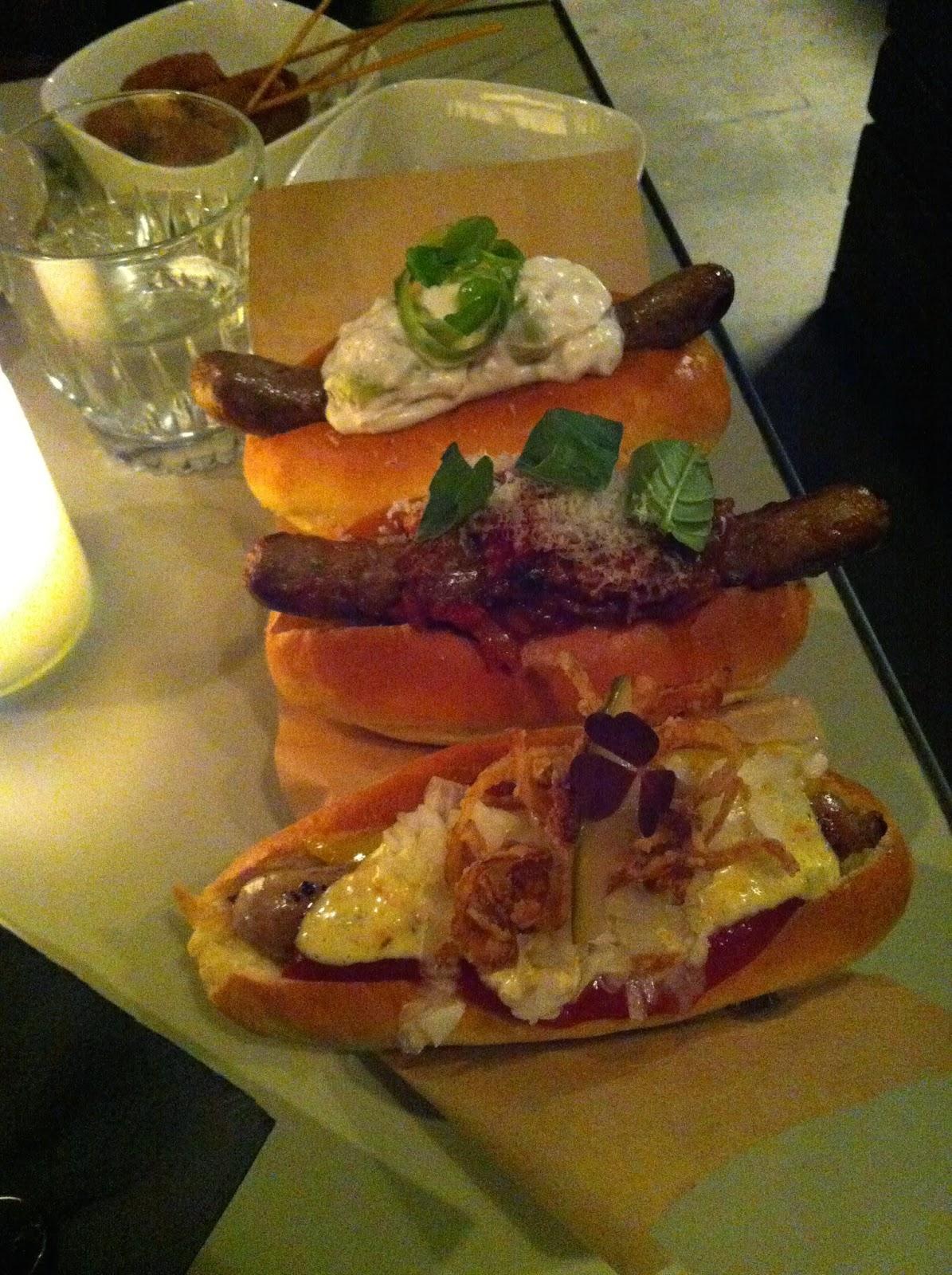Special hotdogs in Copehagen