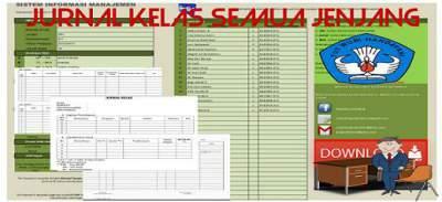 Download Jurnal Kelas (SD kelas 1, 2, 3, 4, 5 dan 6, serta untuk SMP dan SMA)