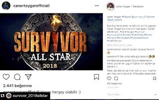 Haberler, Caner Toygar, Caner Survivor, Survivor, Survivor 2018,   survivor 2018 all star,2018 survivor kadrosu,2018 survivor yarışmacıları,survivor 2017,survivor ne zaman başlayacak 2018,