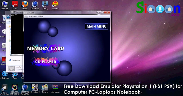 Free Download Emulator Playstation 1 PCSX or EPSXE