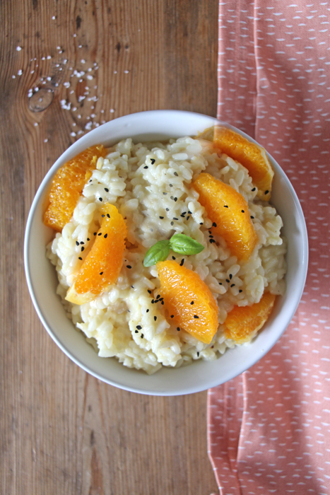 Orangenblüten-Risotto