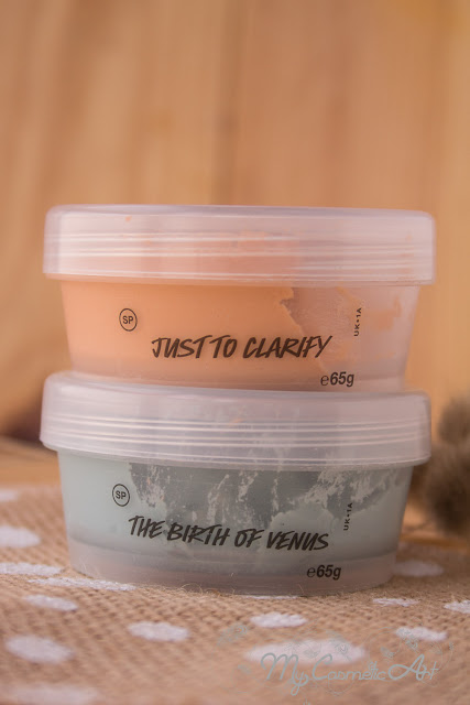 Mascarillas en gelatina de Lush: The Birth of Venus y Just to Clarify