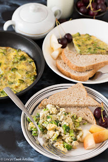 Broccoli scrambled eggs recipe- stove top