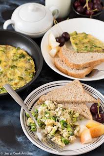 Broccoli scrambled eggs recipe- stove top