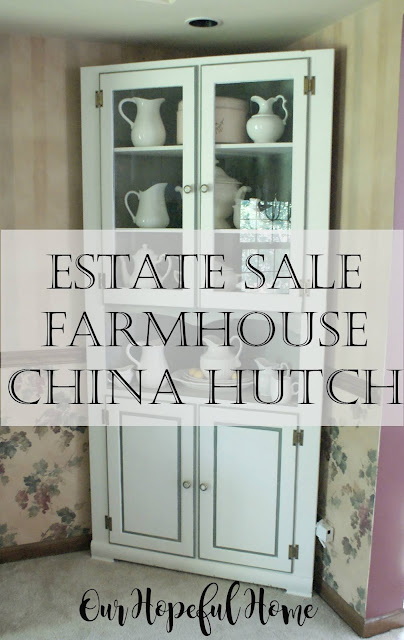 estate sale farrnouse china hutch