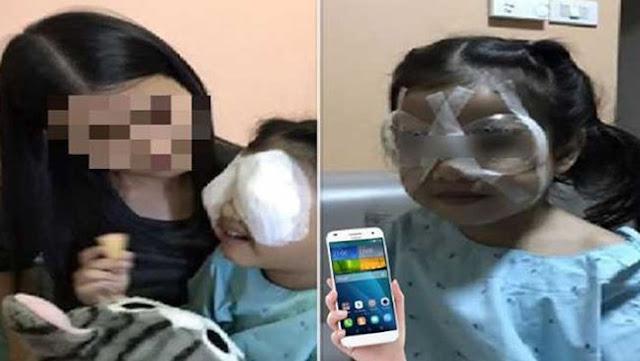 स्मार्टफोन की वजह से बच्ची का हुआ ऐसा खौफनाक हाल - newsonfloor.com