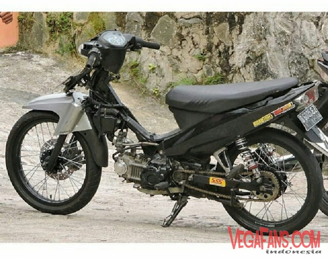 Vega R New Abu Abu Hitam Modif Road Race Simple