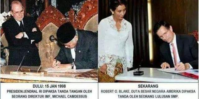 Dulu Soeharto tunduk pada IMF, kini Susi jumawa di depan Dubes AS