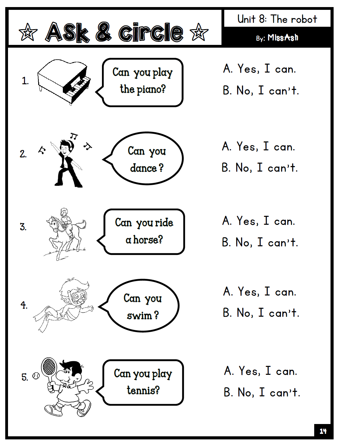 Ash The Teacher Year 2 Supplementary Worksheets Unit 5
