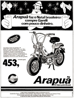 motocicleta Garelli; moto anos 70; propaganda de moto decada de 70; brazilian advertising cars in the 70. os anos 70. história da década de 70; Brazil in the 70s; propaganda carros anos 70; Oswaldo Hernandez;