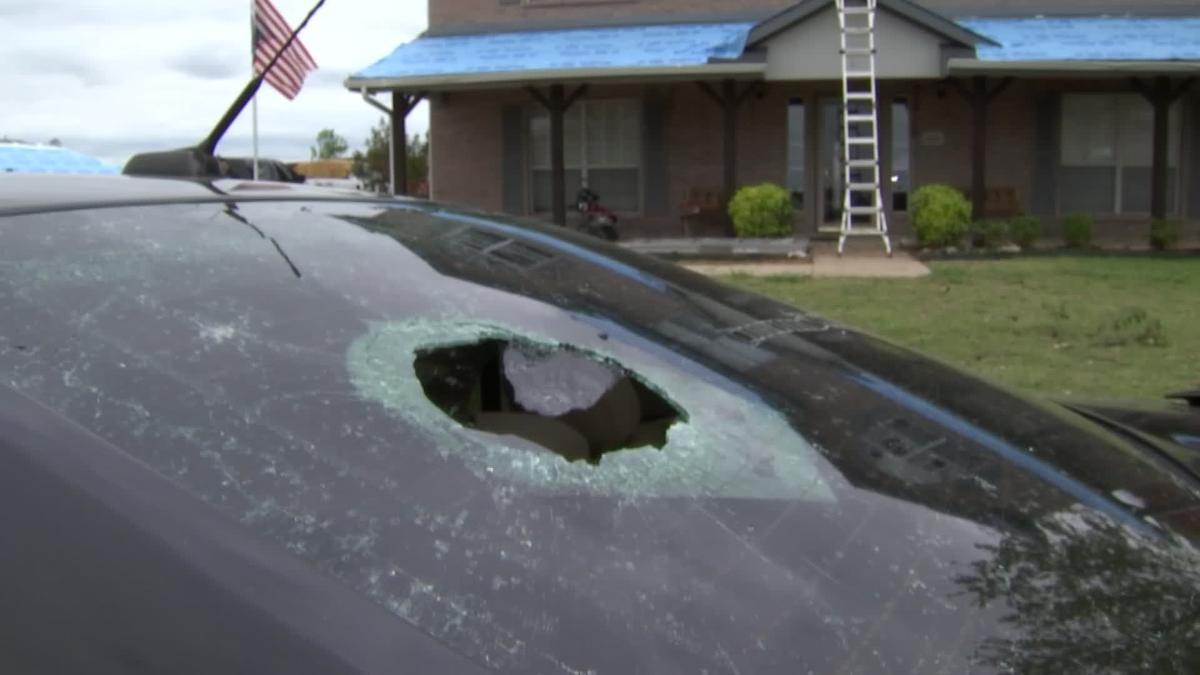 Dallas Windows - The Window Connection: Hail Damaged Aluminum ...