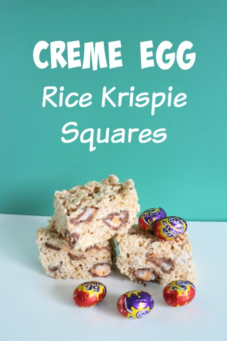 Creme Egg Rice Krispie Squares for Easter!