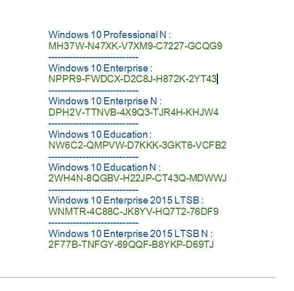 Microsoft Windows 10 PRO Full Free serial number