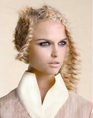 Moderne geflochtene frisuren