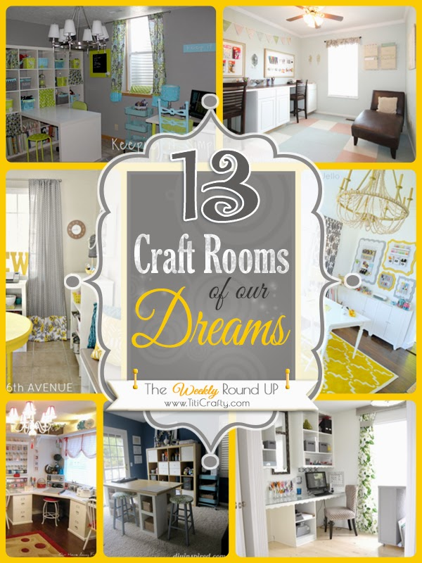 13 Craft Rooms of Our Dreams. The weekly Round Up.