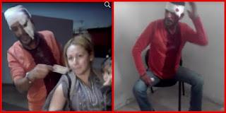 خطير/ بالفيديو: الإعتداء بالعنف الشديد علي رجل و زوجته بمركز الأمن بنعسان !