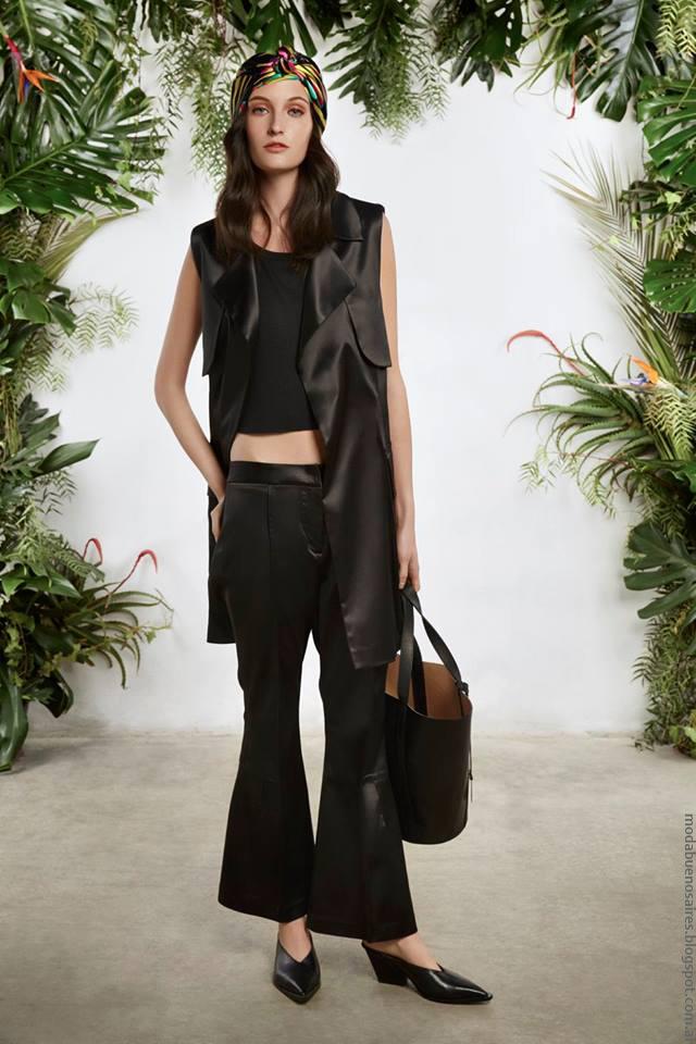 Ropa de cuero primavera verano 2017 moda mujer María Cher.
