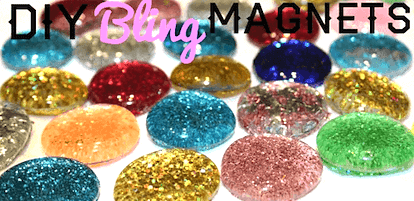 Glitter magnet gifts for kids to make for Christmas