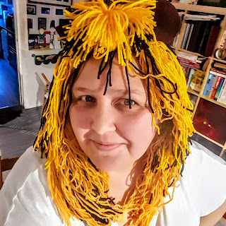 DIY Lion Head dress made from Wool