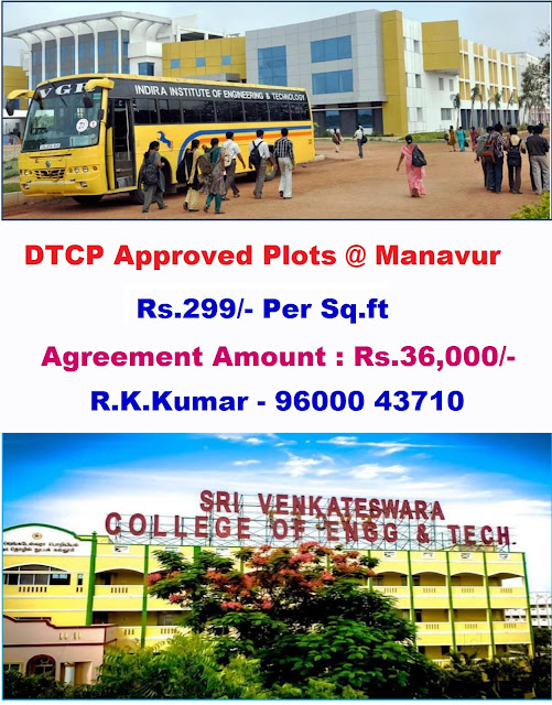 Monthly Installment Scheme Plots in Chennai - Manavur Plots