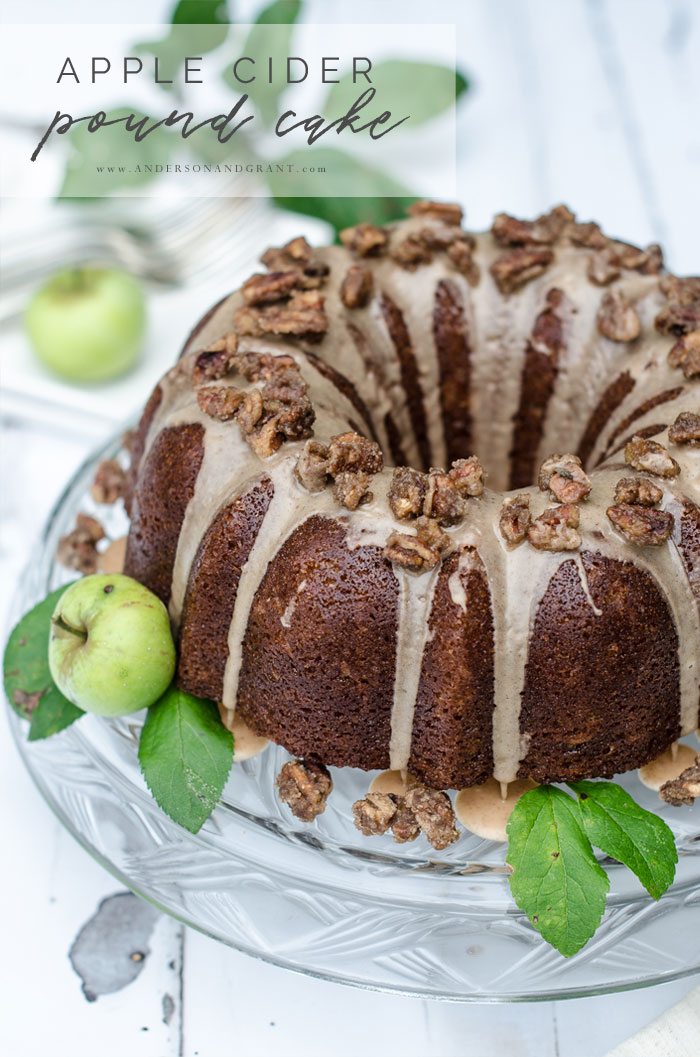 Apple Cider Bundt Cake for Fall