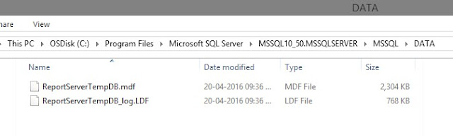 SQL Server 2008 Installation Error - Reporting Service Catalog Database File Existence 2