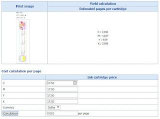 C3500 Estimated Ink Yield