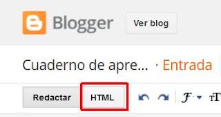 Editar HTML blog