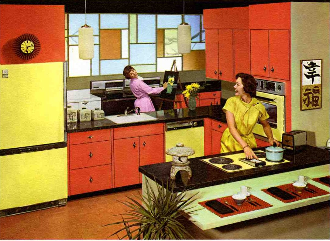 Painted 60s Kitchen Cabinets Lost Toronto Vintage Kitchens