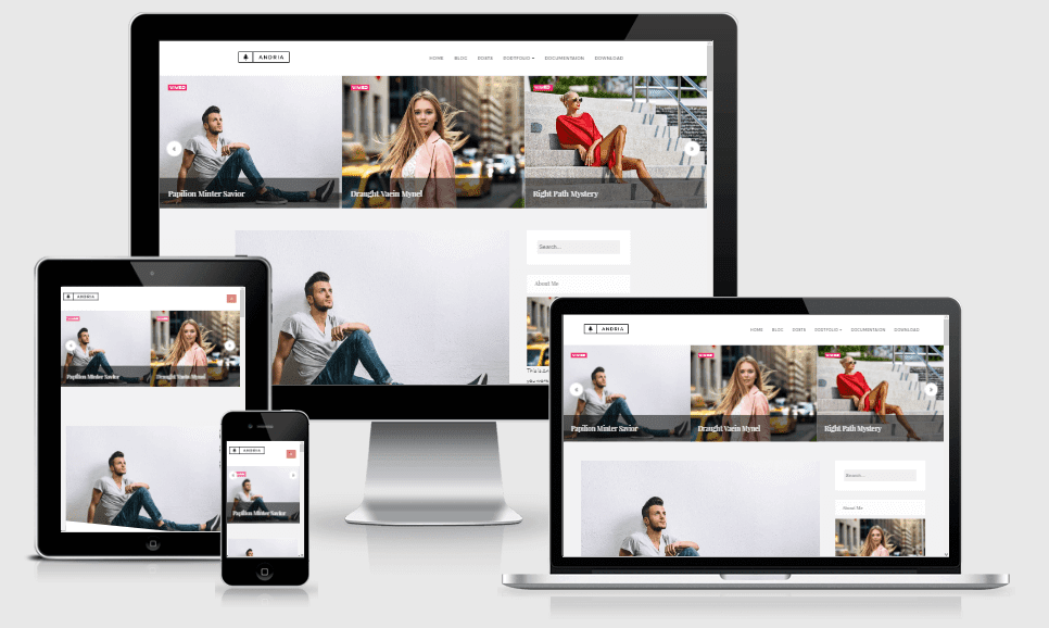 Andria - Responsive Minimal Blogger Template