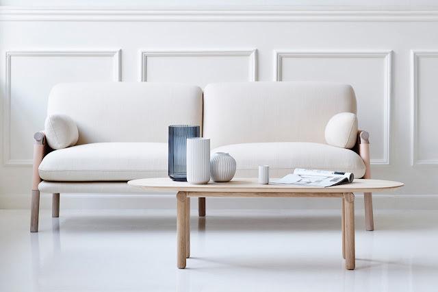 """серия """"Саванна"""" двухместный диван и кофейный столик от Моника Форстер"""