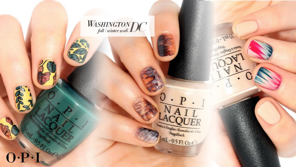 Nail Art with OPI Washington DC polishes - Nailderella