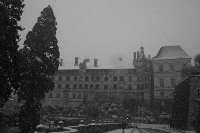 Château de Blois sous les chutes de neige (fin novembre 2010)