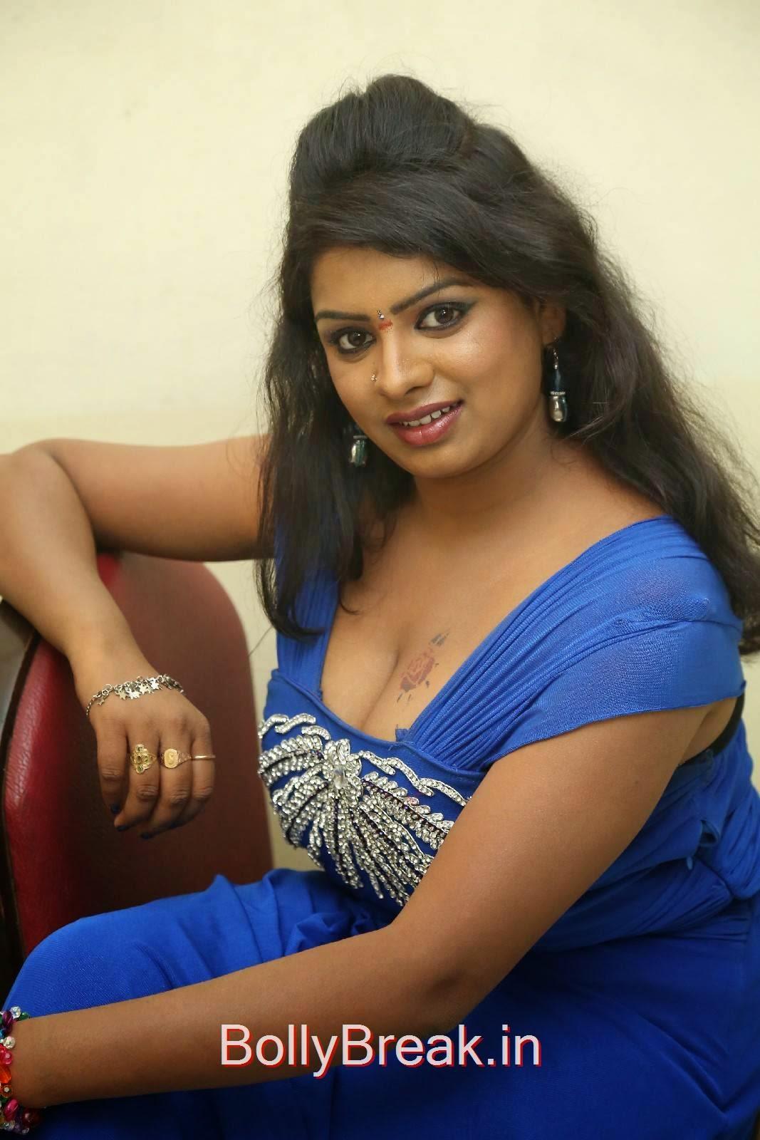 High Quality Sridevi Pics, Sridevi Hot Pics In Blue Dress Romantic Target Movie Teaser Launch