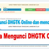 Cara Mengunci DHGTK Online Dan Cetak SPTJM