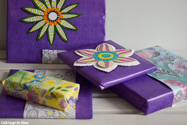 packaging handmade con mandalas