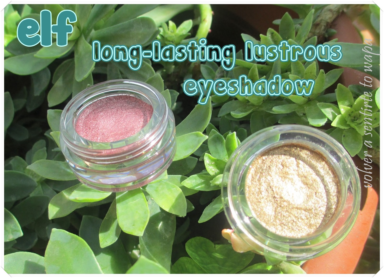 Long-lasting lustrous eyeshadow de elf