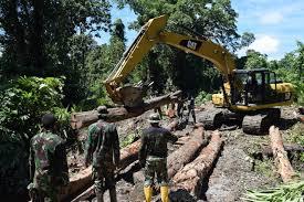 Semangat TNI Bangun Jalan Sepanjang 278 Km Di Pedalaman Hutan Papua - Commando