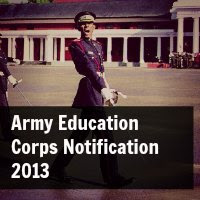 Army Education Corps Notification